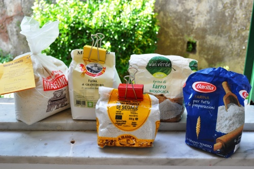 A selection of flours