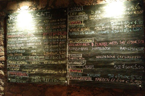 Some of the beers available at Brasserie 4:20 Rome