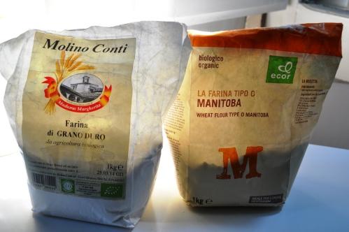 Farina di grano duro and farina di Manitoba