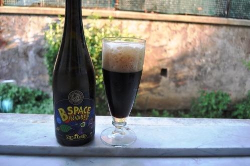 Toccalmatto's B Space Invader Cascadian Dark Ale, rear label