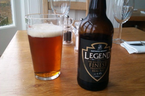 Dartmoor Brewery's Legend at The Castle Restaurant, Bude, Cornwall
