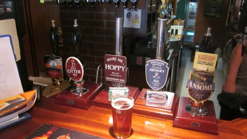 A pint of Make me Hoppy at the Old Market Inn, Holsworthy, Devon