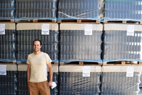 Master brewer Michele Sensidoni at Mastri Birrai Umbri