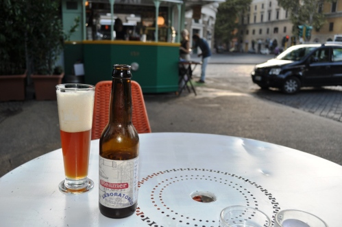 Steamer beer at Tram Depot, Testaccio, Rome