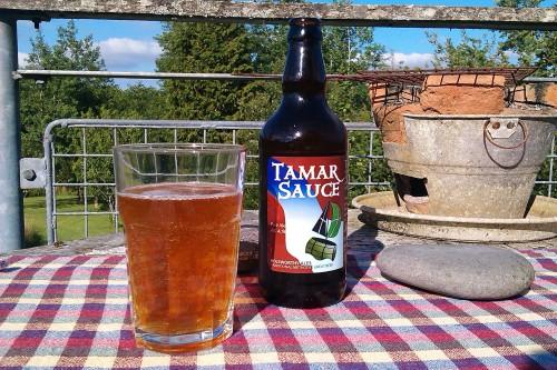 Holsworthy Ales' Tamar Sauce, enjoyed in the Devon sun