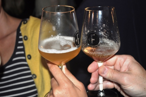 Cheers, sampling ales at Fermentazioni 2013