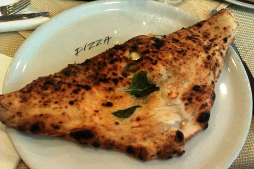 Calzone at Cessano, Naples