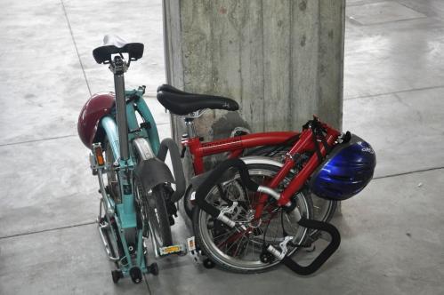 Transportation, Brompton folding bikes