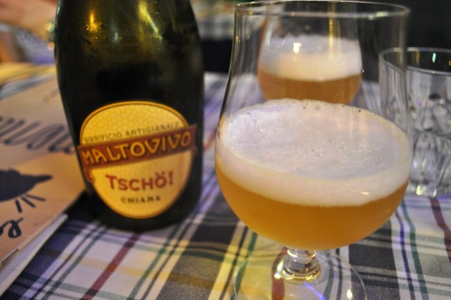 Tscho! beer at La Gatta Mangiona