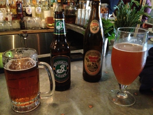 BK lager and German beer at Saraghina