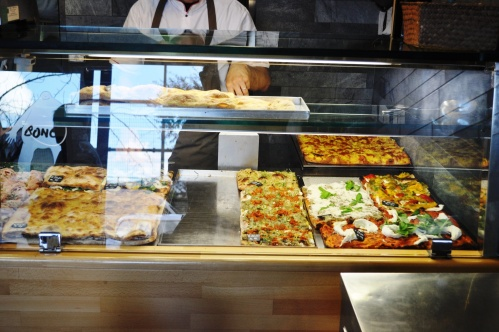 Counter at Pizzarium, Rome