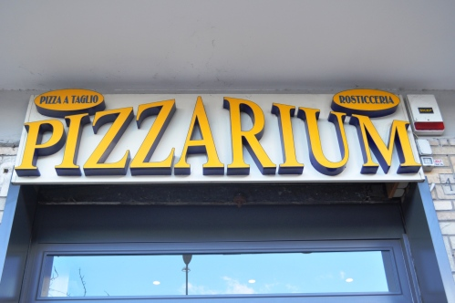 Look for this sign - Pizzarium