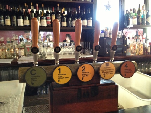 Hallertau taps at the Golden Dawn, Ponsonby, Auckland