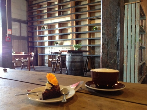 Cake and coffee at Housekeepers, in the Loan and Mercantile, Oamaru