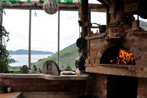Woodfired oven, Marlborough Sounds