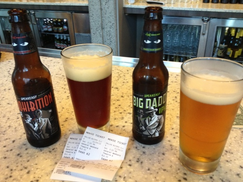 Speakeasy beers at Embarcadero Center cinema