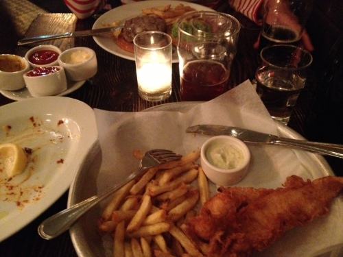 Fish and chips and ale at the Magnolia