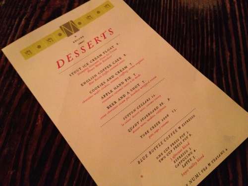 Beer-themed desserts at the Magnolia