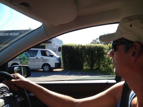 Driving past Hop Federation, Riwaka