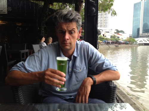 Monster Green lager at Red Dot, Singapore