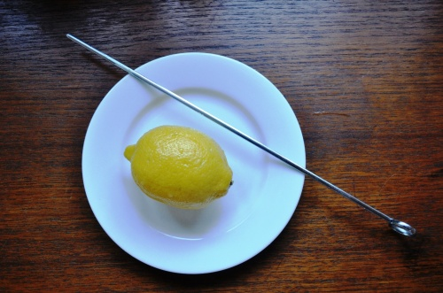 Sussex pond pudding lemon and skewer