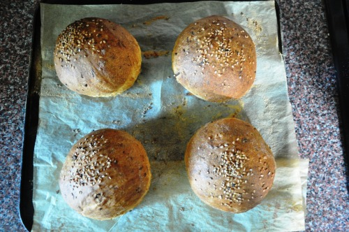 Buns after baking