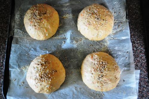 Buns before baking