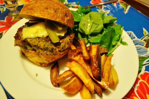 Beanburger with carrot and cumin bun