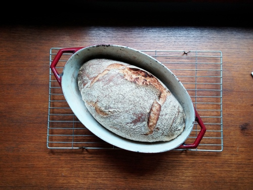 Rye and wheat casserole bread