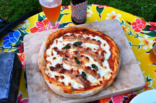 Sourdough pizza with Hastings Brewery No 6 Pale Ale