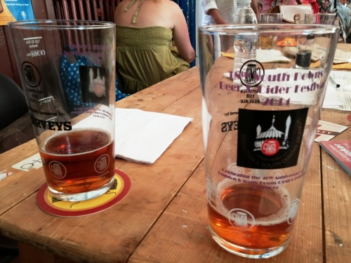 Drinking out third-pints at the 18th South Downs Beer Festival