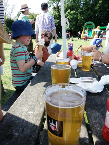 Pints at the Kingston village fete