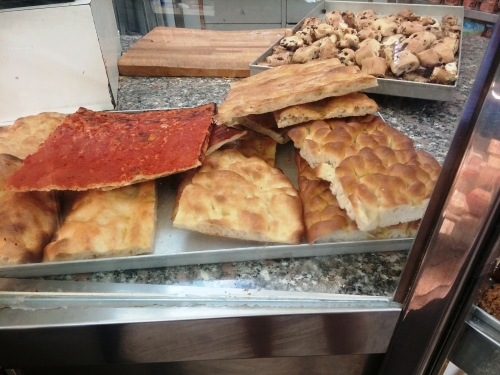 Pizza rossa, pizza bianca and (the fatter stuff) pizza/focaccia alla genovese at Passi, Testaccio.