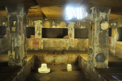 Tomb of the Reliefs, Banditaccia, Cerveteri (Photo: Fran Hortop)