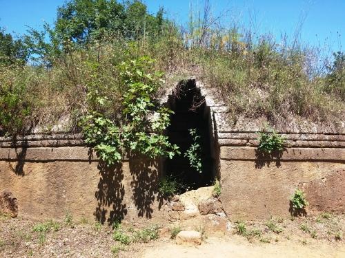Tumulus Etruscan tomb, Banditaccia, Cerveteri