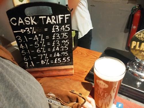 Cask tariff