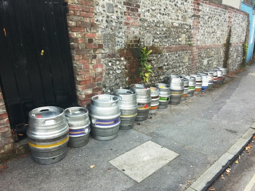 Casks outside the Black Boor