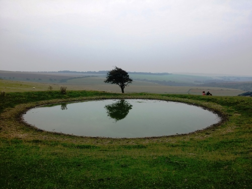 Dew pond near Ditchling Beacon