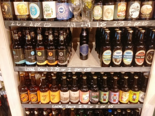 Local beers, Sussex Produce Company