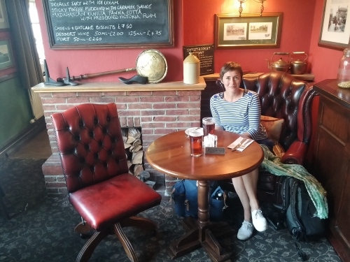 Pint at The Shoe, Exton
