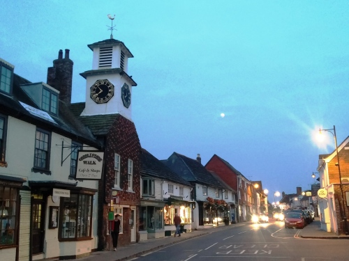 Steyning High St, evening