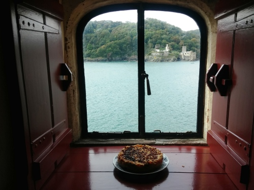 Apple cake, Dartmouth Castle