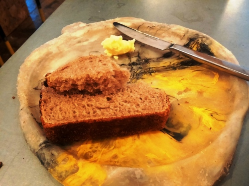 Bread, recycled plastic trencher
