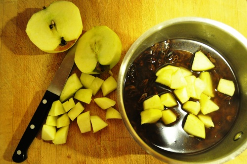 Apple, raisins, cider