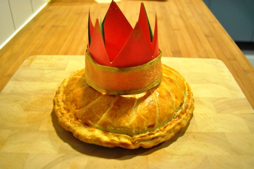 Crowned galette des rois