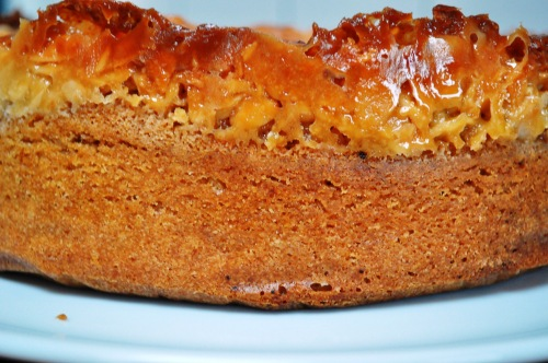 Gellatly almond cake side