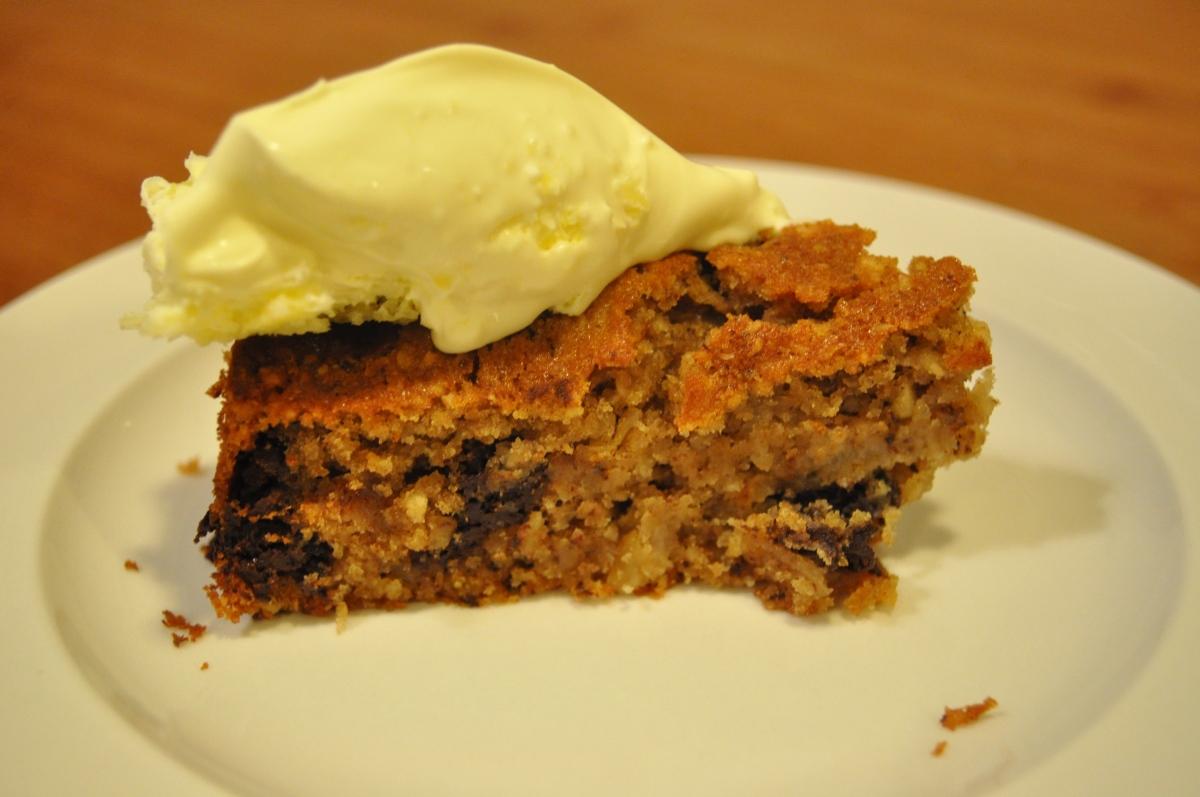 Pear And Chocolate With Ground Hazelnut Cake