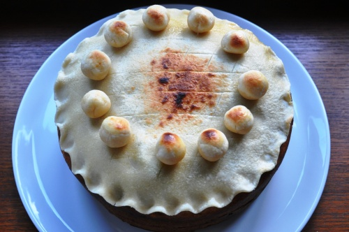 Simnel cake grilled