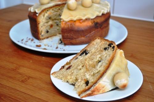 Simnel cake slice