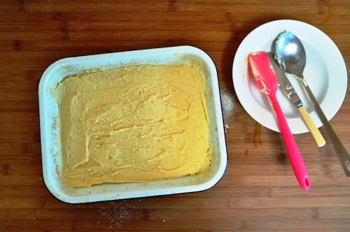 Revani cake batter